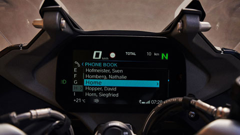 Pantalla TFT con Connected Ride