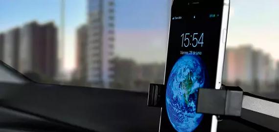 Base universal para móvil + Entrada USB