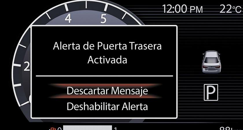 ALERTA DE OLVIDO EN ASIENTO TRASERO