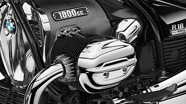 Motor bóxer con varillas de empuje.