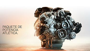 Motor de gasolina de 6 cilindros en línea BMW TwinPower Turbo.