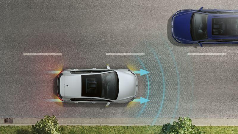 Advertencia de colisión (Asistencia frontal) y sistema de frenado de emergencia