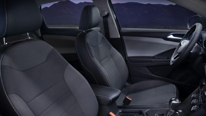 Vestiduras de asientos en leatherette bitono